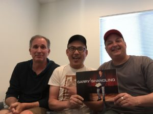 Wayne Federman with hosts Paco Romane and George Chen