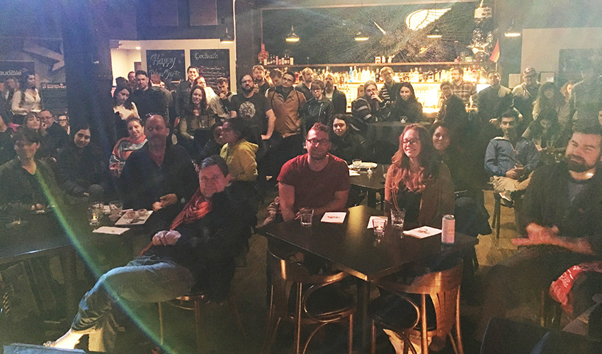 The crowd at Sup Doc Podcast LIVE Quiz Show in SF Sketchfest 2019